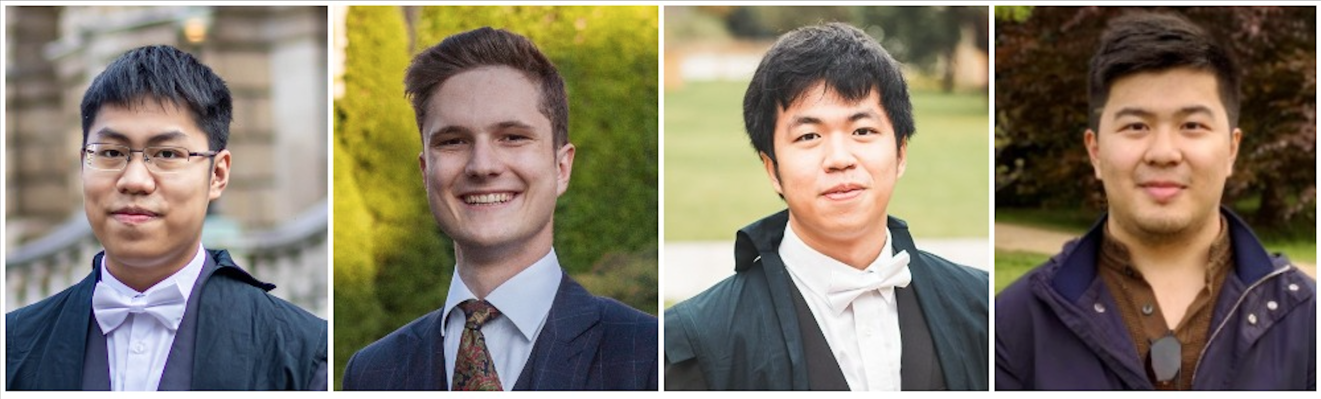 Photos of the four Oxford students who participated in the PAX Moot 2021.
