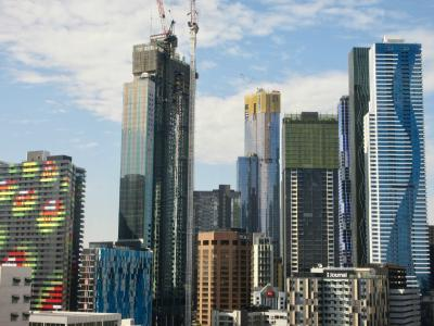 View of Melbourne, high-rise buildings