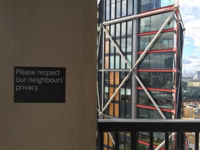 Respect our neighbours' privacy