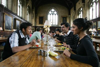 Students in the Dining hall