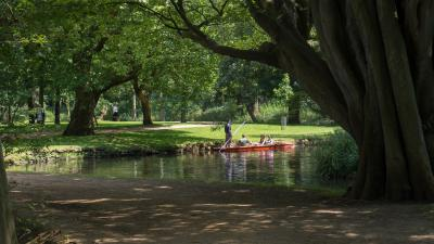 View of river in Christ Church Meadow