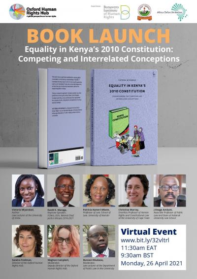 Promotion poster: Book Launch: Equality in Kenya's 2010 Constitution-Understanding Competing and Interrelated Concepts