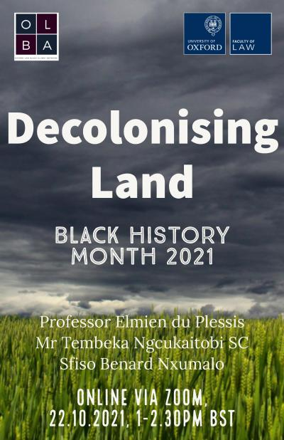 Decolonising Land event poster