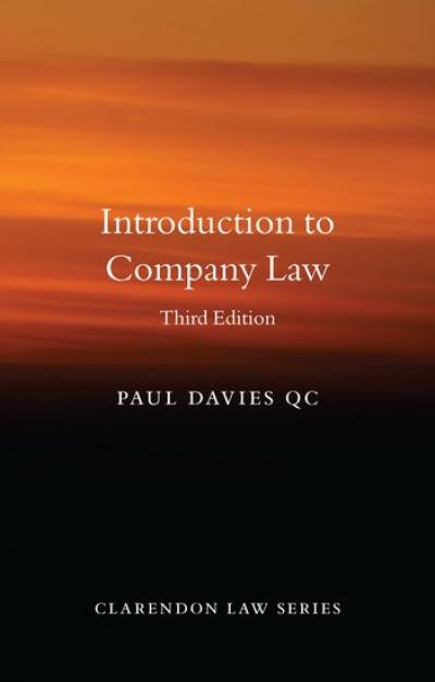 Introduction to company law - Davies