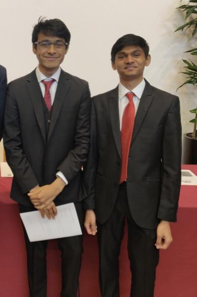 A picture of Sushrut Royyuru (on the left) and Mihir Rajamane (on the right).
