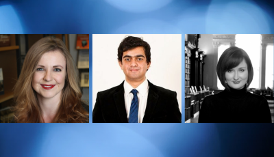 Faculty members: Dr Joanna Bell, Dr Andreas Televantos, Dr Gabrielle Watson
