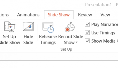 Powerpoint recorder tab