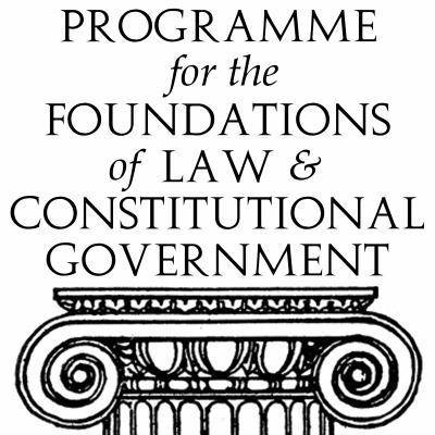 Logo of Programme for the Foundations of Law and Constitutional Government.