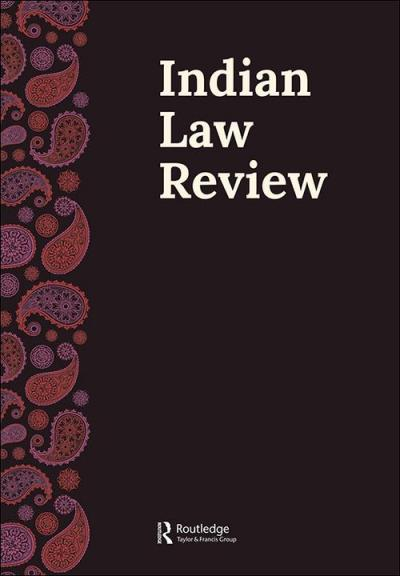 Front cover of the Indian Law Review journal