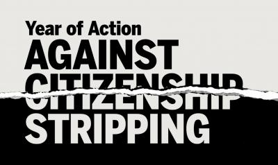 Year of Action against Citizenship Stripping Logo