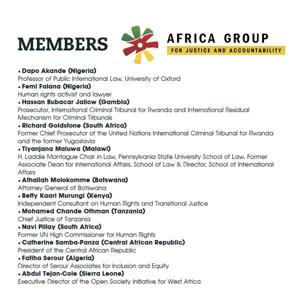 Members of Africa Group for Justice and Accountability