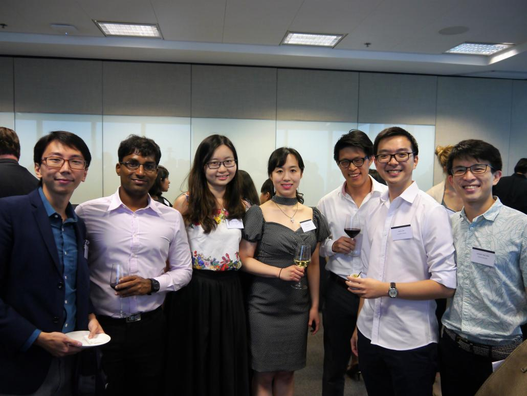 Attendees at the alumni event in Singapore