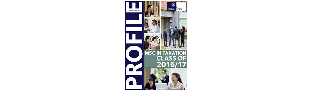 MSc Tax profile book