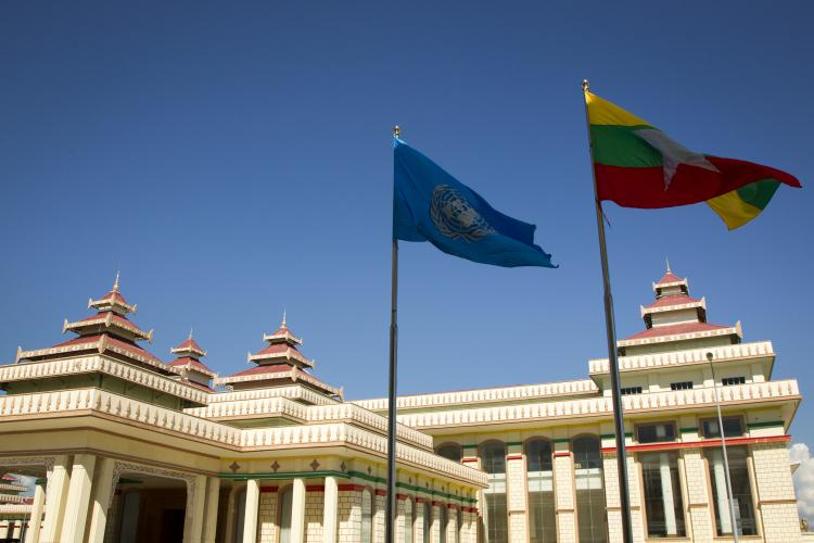 The Myanmar Parliament building in Naypyidaw