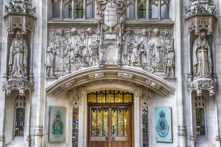 The UK Supreme Court building in Westminster, London