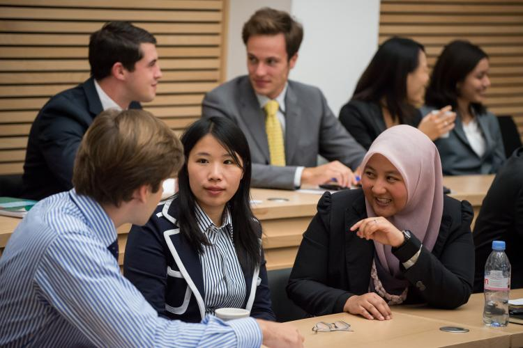 Students discussing in a seminar