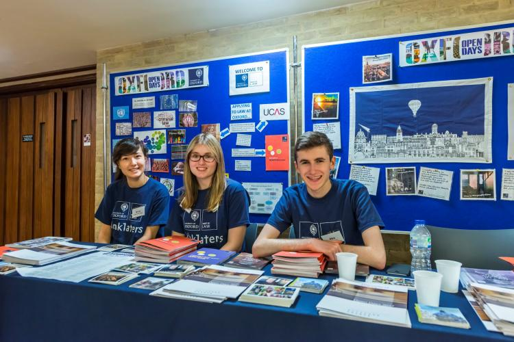 Oxford Open Day stand