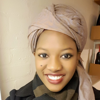 Young Black Woman in a head scarf