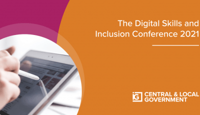 Promotional image featuring text for the Inside Government Digital Skills and Inclusion Conference