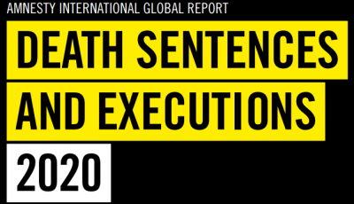 Title on the cover of Amnesty International's 2020 Death Sentences and Executions report