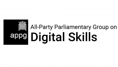 Image of the All-Party Parliamentary Group on Digital Skills Text as a logo