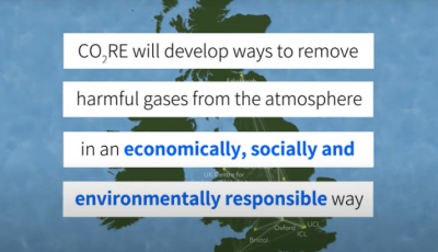 CO2RE will develop ways to remove harmful gases from the atmosphere in an economically, socially and environmentally responsible way.