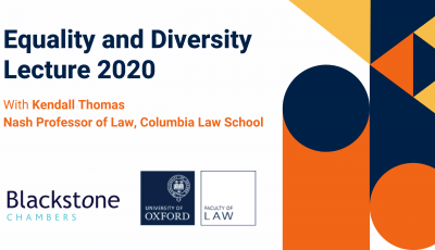 Oxford Law Equality and Diversity Lecture 2020