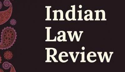 Logo of the Indian Law Review Journal