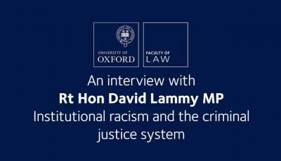 An interview with David Lammy - Institutional Racism and the Criminal Justice System