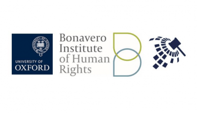 The logos of the University of Oxford, the Bonavero Institute of Human Rights and the Price Media Moot