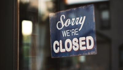 Image of Closed Shop Sign