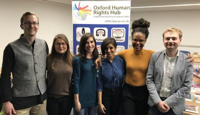 The oxford human rights hub team at the bonavero welcome event