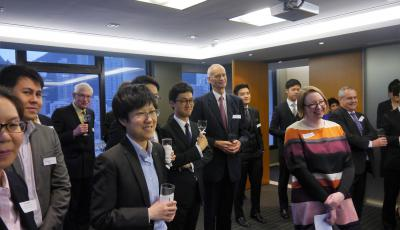 Attendees at the alumni event in Hong Kong