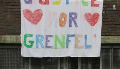 Justice for Grenfell banner