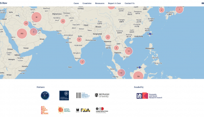 Screenshot of foreign nationals mapping database