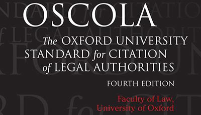 Image of front cover of OSCOLA